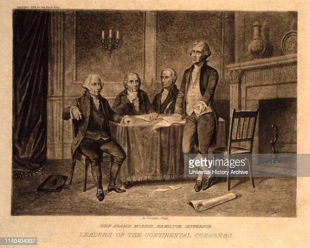 John Adams Morris Hamilton Jefferson Leaders of the Continental Congress Augustus Tholey 1896