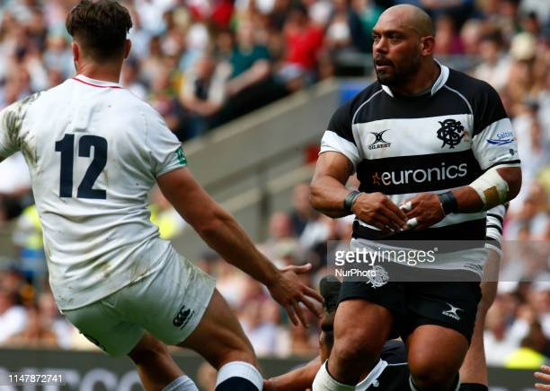 John Afoa of Barbarians during Quilter Cup between England XV and Barbarians match at Twickenham Stadium on 02 June 2019 in London England