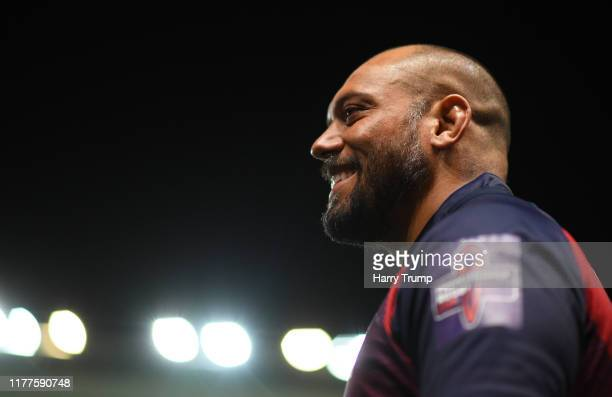 John Afoa of Bristol Bears during the Premiership Rugby Cup Second Round match between Bristol Bears and Gloucester Rugby at Ashton Gate on September...