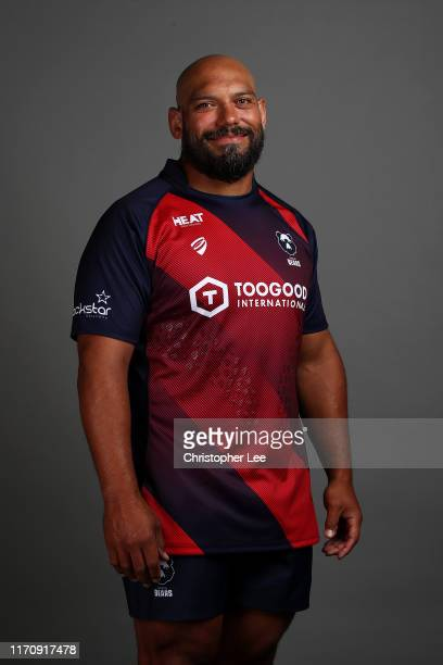John Afoa of Bristol Bears poses for a portrait during the Bristol Bears squad photocall for the 20192020 Gallagher Premiership Rugby season at...