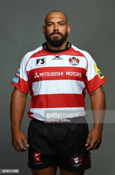 John Afoa of Gloucester Rugby poses for a portrait during the Gloucester Rugby squad photo call for the 20172018 Aviva Premiership Rugby season on...