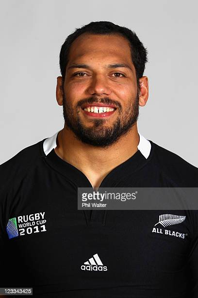 John Afoa of the All Blacks poses during a New Zealand All Blacks IRB Rugby World Cup 2011 headshot session at the Heritage Hotel on September 2 2011...