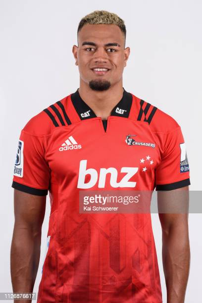 John Akau'olaLaula poses during the Crusaders 2019 Super Rugby headshots session on February 01 2019 in Christchurch New Zealand