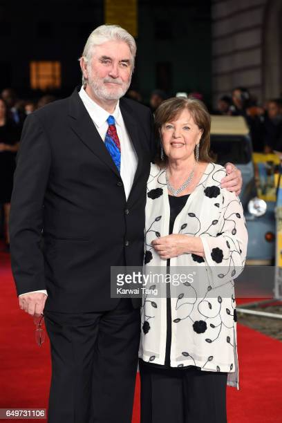 John Alderton and Pauline Collins attend the World Premiere of 'The Time Of Their Lives' at the Curzon Mayfair on March 8 2017 in London United...