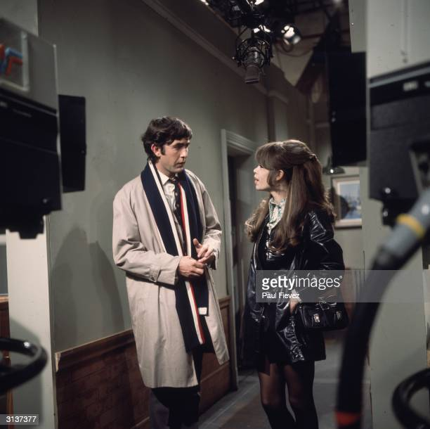 John Alderton as Mr Hedges and Penny Spencer as Sharon Eversleigh in the London Weekend Television sitcom 'Please Sir' 16th October 1970