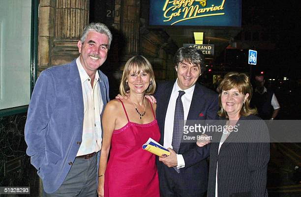John Alderton Tom Conti and his wife and Pauline Collins attend the opening night of Peggy Sue Got Married at The Shaftsbury Theatre followed by the...