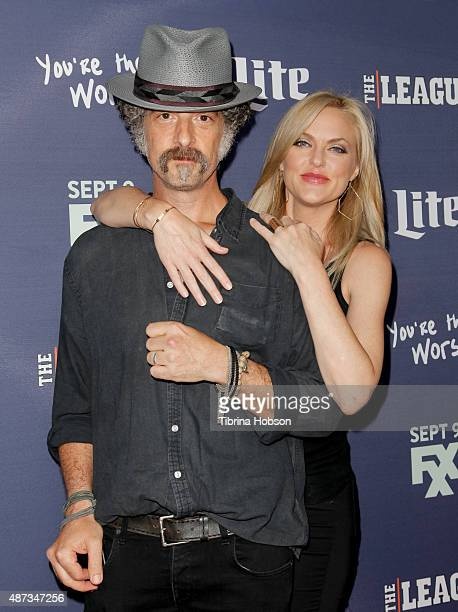 John Ales and Elaine Hendrix attend the premiere of 'The League' and 'You're The Worst' at Regency Bruin Theater on September 8, 2015 in Westwood,...
