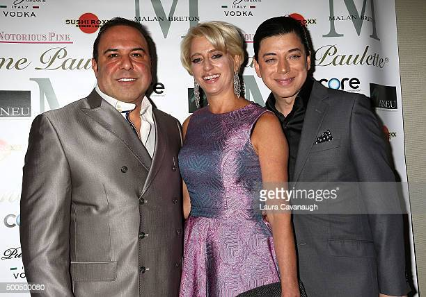 John Alessi Dorinda Medley and Malan Breton attend Malan Breton Couture Collection Unveiling Hosted By Dorinda Medley at Madame Paulette on December...