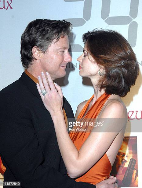 """John Allen Nelson and Justine Eyre during """"24"""" Season Five DVD Collection Launch Party at Las Deux in Hollywood, California, United States."""