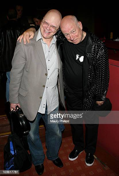 John Altman and Neil Innes arrive at Secret Policemen's Film Festival for Amnesty International at the Egyptian Theatre on June 11 2009 in Hollywood...