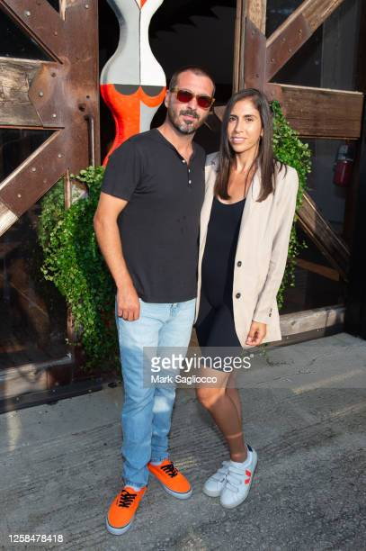 John Amato and Katie Amato attend the Hamptons Magazine x The Chainsmokers VIP Dinner at The Barn at Nova's Ark on July 25, 2020 in Watermill, New...