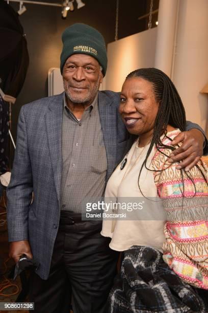 John Amos and Tarana Burke attend The Will and Jada Smith Family Foundation Presents Broadening the Lens Perspective on Diverse Storytelling panel at...