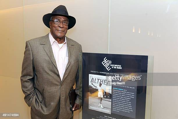John Amos attends the Althea screening and panel discussion at One Time Warner Center on October 5 2015 in New York City