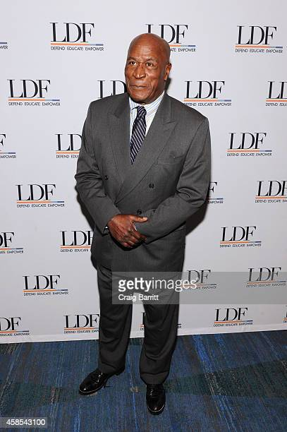 John Amos attends the Legal Defense Fund Annual Gala to commemorate the 60th anniversary of Brown V Board of Education at the New York Hilton Midtown...