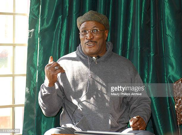 John Amos during Black Leaders Target WB Network in Campaign to Save All About The Andersons at Lucy Florence Coffeehouse in Los Angeles California...