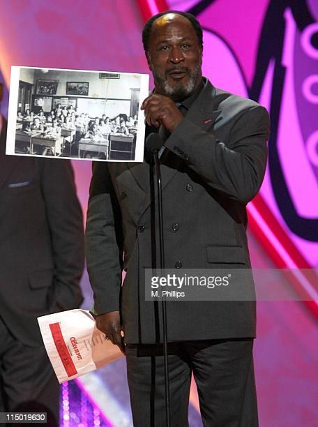 John Amos winner Anniversary Award for Roots during 5th Annual TV Land Awards Show at Barker Hangar in Santa Monica California United States
