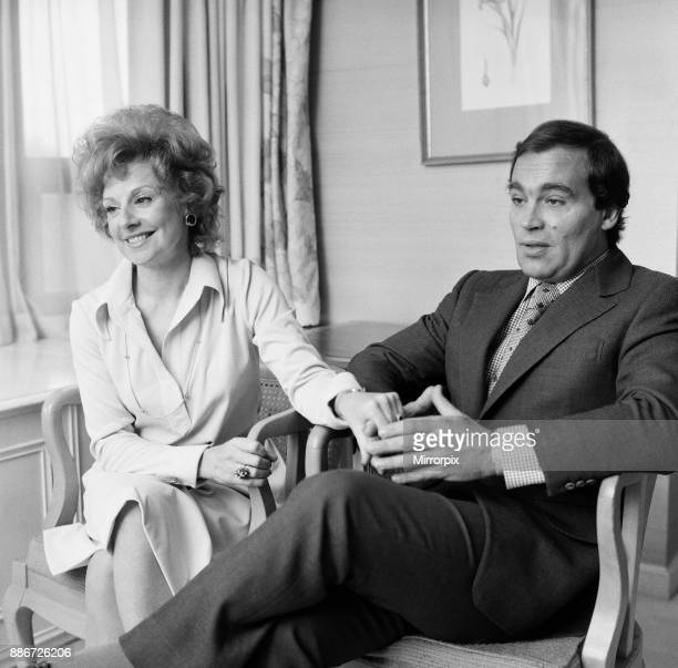 John and Barbara Knox photographed in their suite at the Park Tower Hotel Knightsbridge 7th May 1977