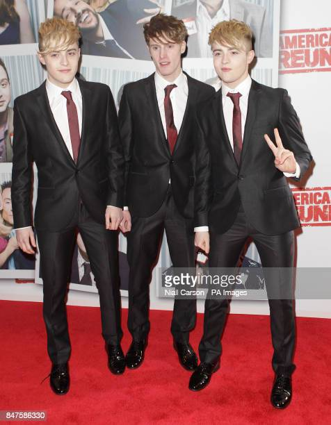 John and Edward Grimes with their brother Kevin at the Irish premiere of American Pie The Reunion at the Savoy Cinema in Dublin