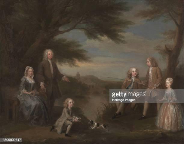 John and Elizabeth Jeffreys and Their Children;The Jeffreys Family, 1730. Artist William Hogarth. .