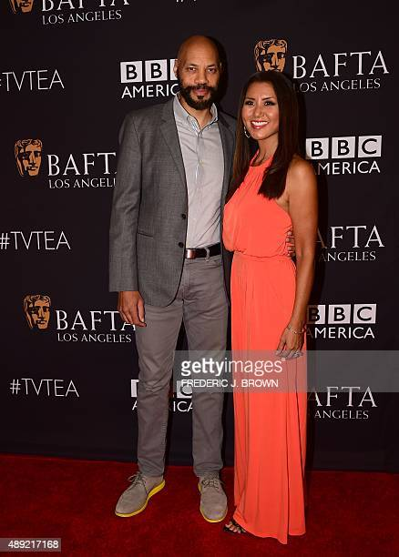 John and Gayle Ridley pose on arrival for the British Academy of Film and Television Arts Los Angeles TV Tea 2015 on September 19 2015 in Los Angeles...