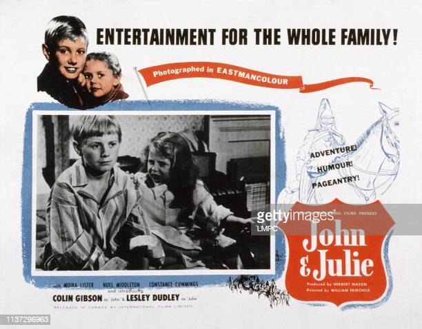 John And Julie lobbycard US poster from left Colin Gibson Lesley Dudley 1955