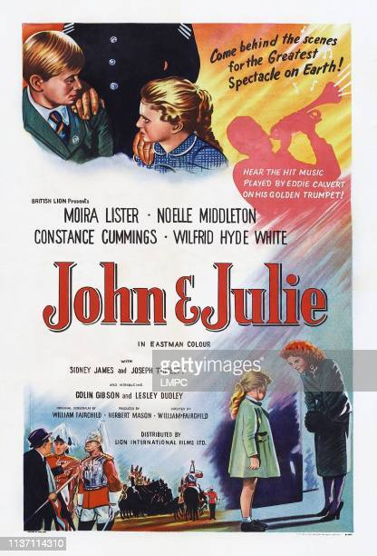 John And Julie poster British poster top from left Colin Gibson Lesley Dudley 1955