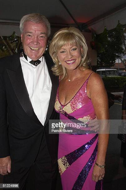 John and Kerri Ann Kennerley at the Channel Nine predrinks party for Brian Henderson 'Toasted and Roasted' Special farwell after 46 years in TV in...