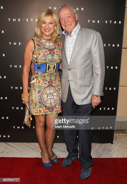 John and KerriAnne Kennerley arrive at the official launch of the 2013 Australian Open at The Star on November 26 2013 in Sydney Australia
