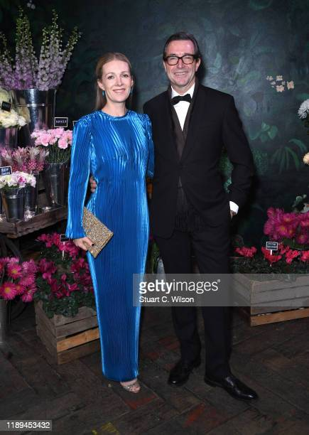 John and Lizzie Ridding and attend the gala dinner in honour of Edward Enninful winner of the Global VOICES Award 2019 during #BoFVOICES on November...