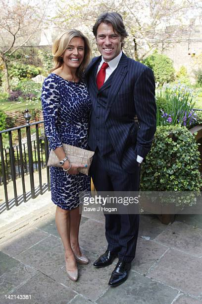 John and Melanie Bishop attend a tea reception to congratulate Sport Relief 2012 celebrity challengers at No 10 Downing Street on March 30 2012 in...