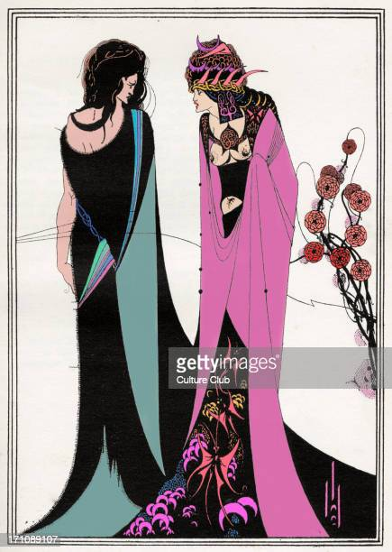 ' John and Salome ' Aubrey Beardsley 's illustration for ' Salome ' by Oscar Wilde first performed in England on 10 May 1905 Richard Strauss 's opera...