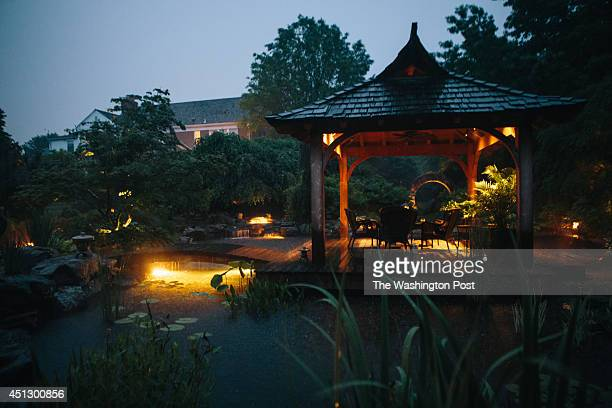 John and Toby Mattingly have created a hidden garden in the back yard of their fiveacre property in Darnestown Maryland