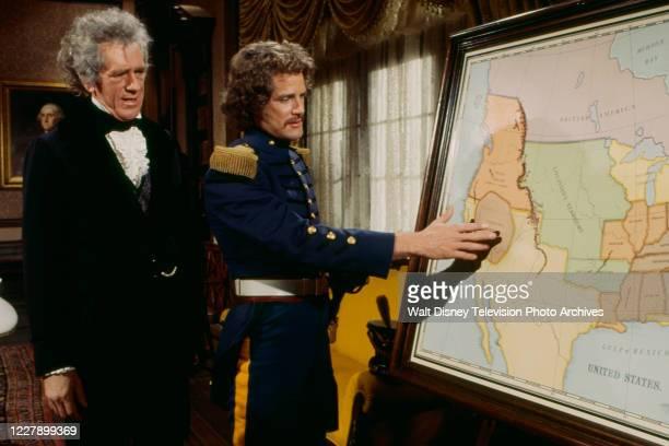 John Anderson, Ben Murphy appearing in the western / period piece ABC tv movie 'Bridger'.
