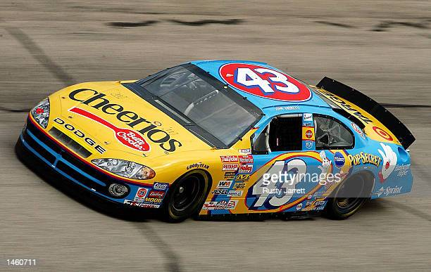 John Andretti driver of the Cheerios Dodge Intrepid R/T in action during practice for the EA Sports 500 at Talladega Superspeedway on October 5 2002...