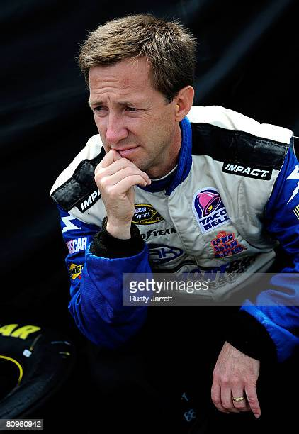 John Andretti driver of the Long John Silver's Chevrolet during practice for the NASCAR Sprint Cup Series Crown Royal Presents the Dan Lowry 400 at...