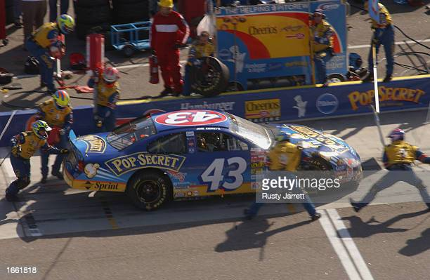 John Andretti driver of the Petty Enterprises Dodge Intrepid R/T during the NASCAR Winston Cup Pop Secret Microwave Popcorn 400 on November 3 2002 at...