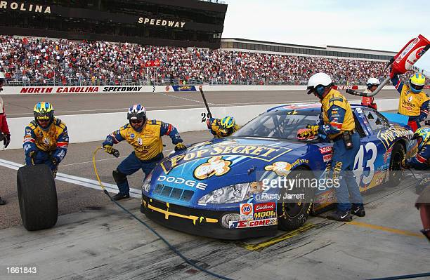 John Andretti driver of the Petty Enterprises Dodge Intrpid R/T during the NASCAR Winston Cup Pop Secret Microwave Popcorn 400 on November 3 2002 at...