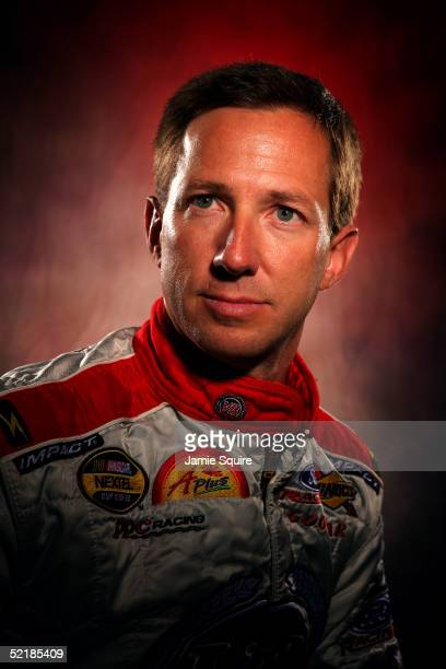 John Andretti driver of the VB/A Plus at Sunoco Ford poses during Media Day for the NASCAR Nextel Cup Daytona 500 on February 10 2005 at the Daytona...