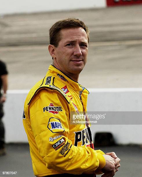 John Andretti waits on pit row for his qualifying run Friday October 17 2003 at the NASCAR Subway 500 at Martinsville Speedway Martinsville Virginia