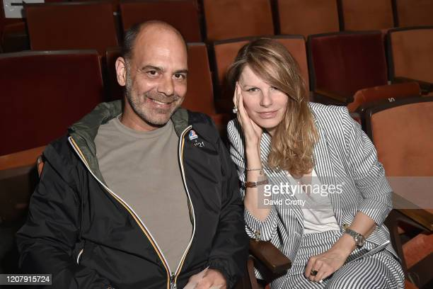 John Angle and Jules Moore attend the House Of Cardin Special Screening At Palm Springs Modernism Week at The Plaza Theater on February 21 2020 in...