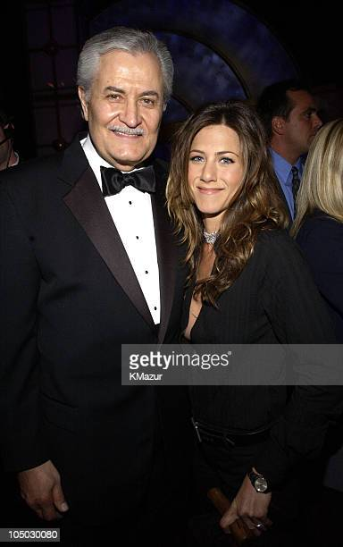 John Aniston and daughter Jennifer Aniston during The 29th Annual People's Choice Awards Backstage and Audience at Pasadena Civic Auditorium in...