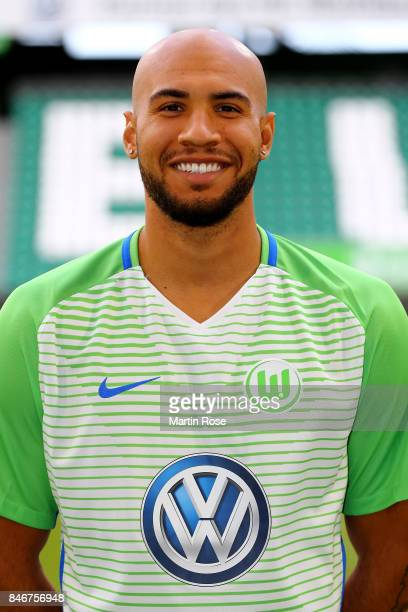 John Anthony Brooks of VfL Wolfsburg poses during the team presentation at on September 13 2017 in Wolfsburg Germany