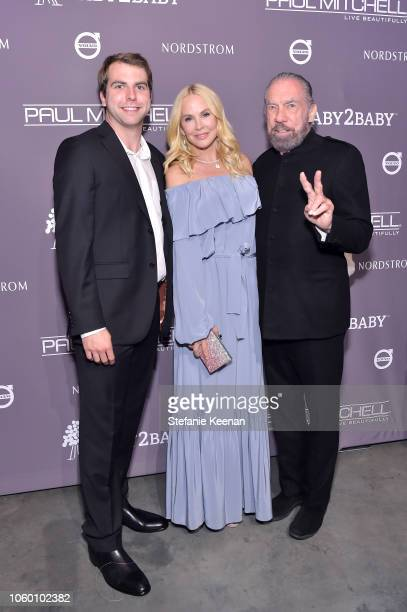 John Anthony DeJoria Eloise Broady DeJoria and John Paul DeJoria attend the 2018 Baby2Baby Gala Presented by Paul Mitchell at 3LABS on November 10...