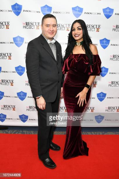 John Arias and Desiree Kinney attend Vision 2020 BALL By The Rescue Project / Haven Hands Inc on December 12 2018 in New York City