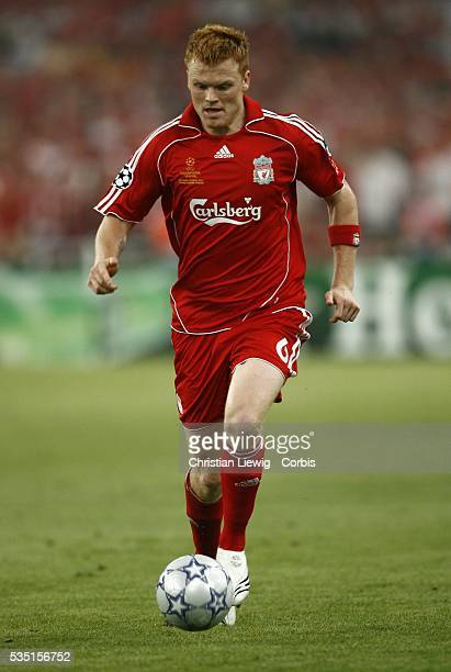 John Arne Riise during the 20062007 UEFA Champions League final between AC Milan and Liverpool FC