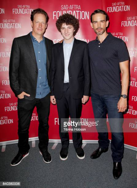 John Asher Julian Feder and Christopher Gorham attend the SAGAFTRA Foundation Conversations with 'A Boy Called Po' at SAGAFTRA Foundation Screening...