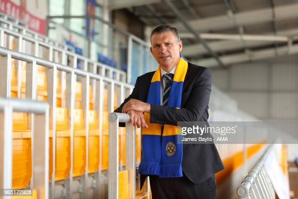 John Askey the new manager of Shrewsbury Town on June 1 2018 in Shrewsbury England