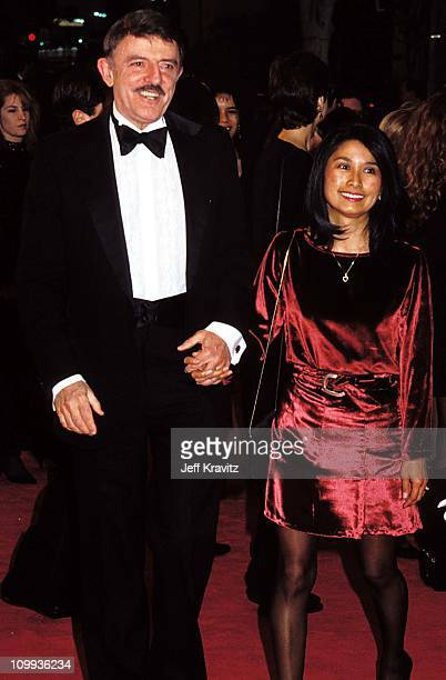 John Astin and Valerie Ann Sandobal during 1992 Cable ACE Awards in Los Angeles California United States