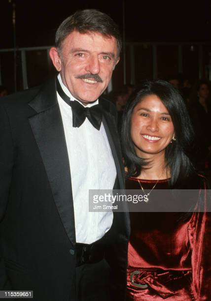John Astin and Valerie Ann Sandobal during The 13th Annual Cable ACE Awards at Pantages Theater in Hollywood California United States