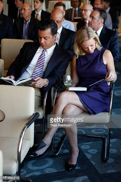John Avalon and Margaret Hoover attend Book Launch For Jeffrey Toobin's The Oath at Time Warner Center on September 12 2012 in New York City